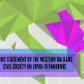 Joint statement by the civil society actors from the Western Balkans on COVID-19 pandemic